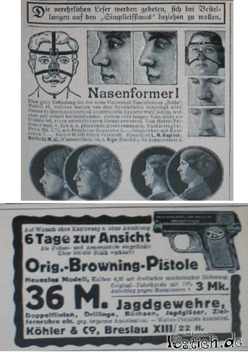 Werbung vor 100 Jahren
