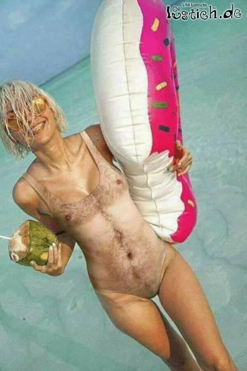 Lässiges Badeoutfit mit Spaßfaktor