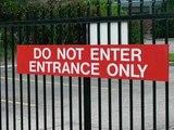 Nicht Eintreten,  Eingang