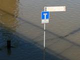 Im Wasser keine Wendemöglichkeit