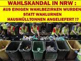 Wahltag heut, Müll-Abfuhr morgen !
