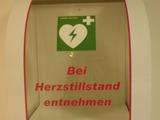 Defibrillator im Einsatz