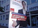 Werbeschild der SPD