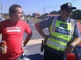 Plötzliche Polizeikontrolle