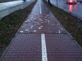 Chaotische Gehweg