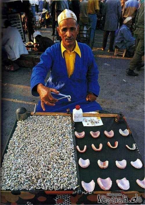 Zähne zu verkaufen