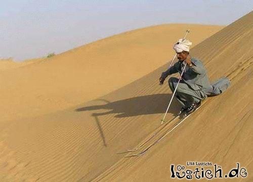 Ski fahren in der Wüste