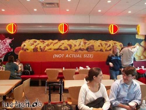 Riesiger Hotdog