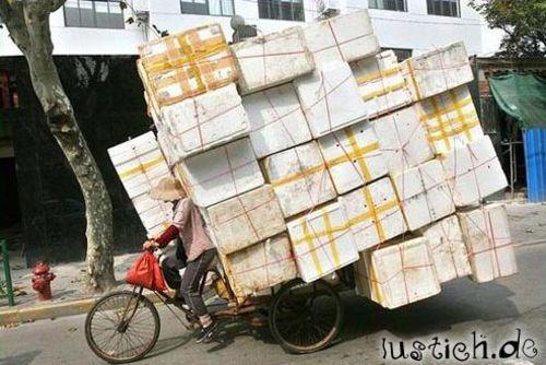 Gepäckträger voll