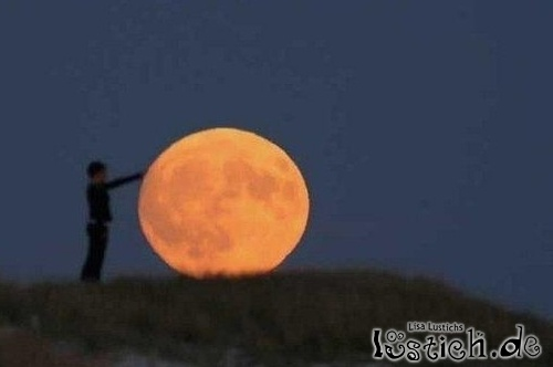 Mond wegschieben