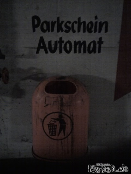 Netter Parkscheinautomat