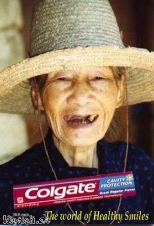 Colgate ist gut für die Zähne