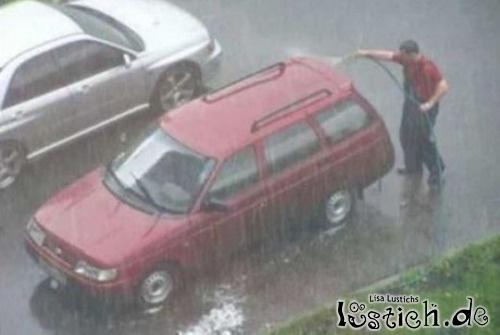 Gutes Wetter für Autowäsche