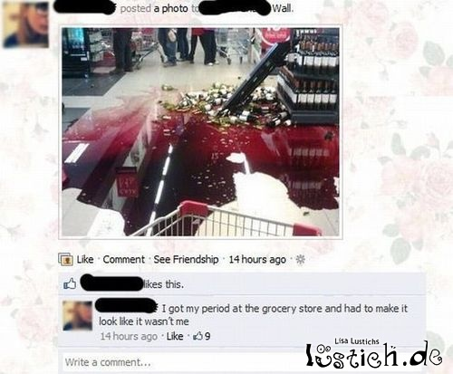 Blut im Supermarkt
