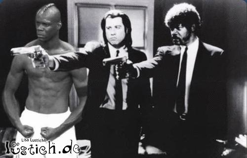 Balotelli in Pulp Fiction
