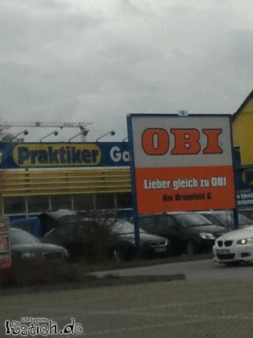 Lieber gleich zu obi