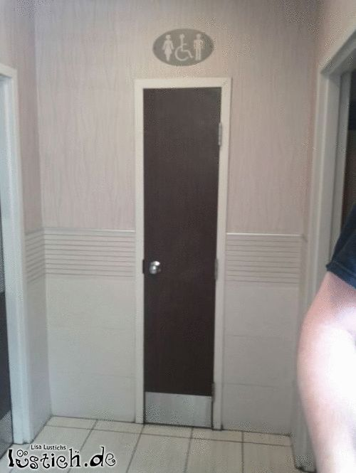 Schmale Toilette