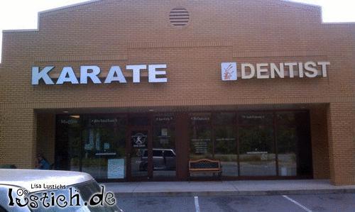 Karate und Zahnarzt