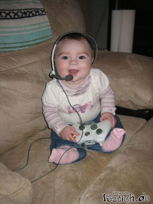 Gamer in jungen Jahren