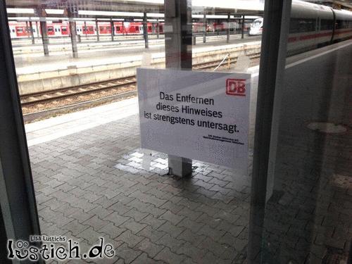 Hinweis der Deutschen Bahn