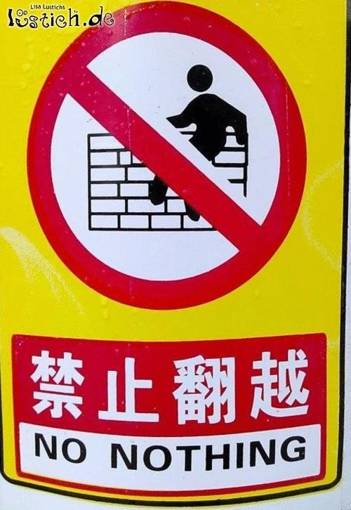 Einfach alles verboten