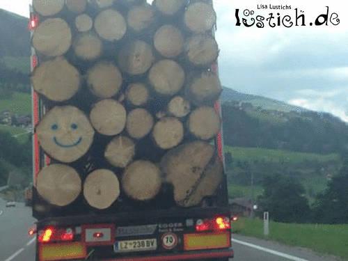 Holzlächeln