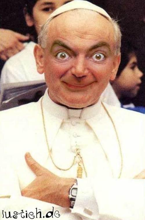 Mr. Bean als Papst