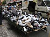 Schuh Markt in Italien