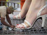 Schuhputzer für Riesenfüße