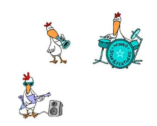 Musik-Hühner